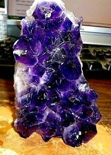 LARGE  AMETHYST CRYSTAL CLUSTER  GEODE FROM URUGUAY CATHEDRAL; NO STAND;