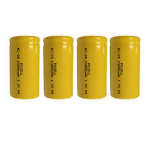 4x PKCELL C Size Ni-Cd Rechargeable Batteries 3000mAh 1.2V Flat Top