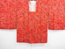 VINTAGE JAPANESE KIMONO, MICHIYUKI COAT, CRAFT MATERIAL, JAPAN CLOTHING, CLOTH
