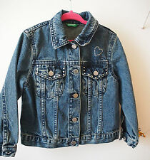 FANTASTIC GIRLS BENETTON STUDDED JEANS JACKET - 2yrs GREAT CONDITION!