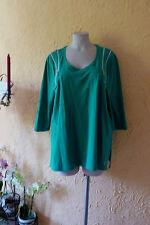 LAGENLOOK: TRAUM Tunika Shirt Q! 46/48 NEU! grün, 4 Reißverschlüsse, Stretch