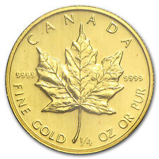1983 1/4 oz Gold Canadian Maple Leaf Coin - Brilliant Uncirculated - SKU #82820