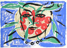 "STEFAN SZCZESNY "" EVA ON CHERRIES "" HAND SIGNED NUMBERED SERIGRAPH GERMAN ARTIST"