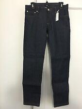 NWT A.P.C. jeans 'Jean Etroit Court' raw denim w/ stretch, indigo, women 27 28