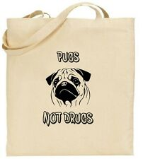 Tote Bag - Pugs Not Drugs