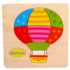 Wooden Balloon Puzzle Educational Developmental Baby Kids Training Toy H