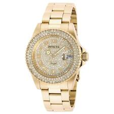 Invicta 90255 Women's Gold Dial Yellow Steel Crystal Dive Watch