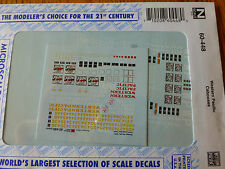 Microscale Decal N  #60-448 Western Pacific (WP) Steel Cabooses