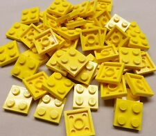 x50 NEW Lego Yellow Baseplates 2x2 Brick Building Plates