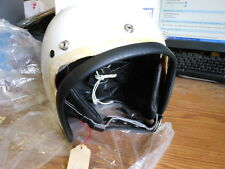 NOS Vintage NEW Vepo Lux White Helmet Made in Italy 6 3/4 55CM Vespa