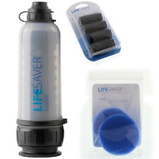 Lifesaver Bottle 6000UF Carbon filters 4pk and Pre-Filter disc 2pk made in UK