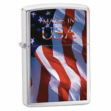 Zippo Windproof American Flag Lighter, Made In USA, 24797, New In Box