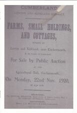 Nr Cockermouth-Lorton Farms, Small Holdings, & Cottages for sale in 1920.
