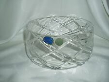 "Elegant ~ Bohemia Hand Cut Crystal Bowl ~ Large 8"" ~ Made in Czech Republic"