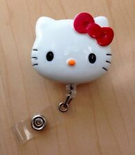 "Hello Kitty 45mm / 1.9"" Retractable Reel ID Badge Holder_Red Bow 1pc"