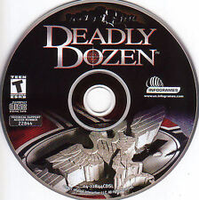 DEADLY DOZEN Classic Original Atari Shooter for Windows PC Game CDrom NEW