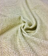 BEAUTIFUL CREAM CHENILLE UPHOLSTERY FABRIC 2.5 METRES