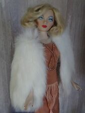 "AllforDoll ""1930s Fashion"" White Fur WRAP for 16"" Tonner Gene Ficon Tyler Doll"