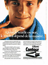 PUBLICITE ADVERTISING  1985   GILLETTE CONTOUR 2