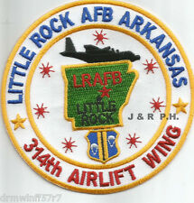 """Little Rock Air Force Base  314th Arlift Wing  (4"""" round size) (fire patch)"""