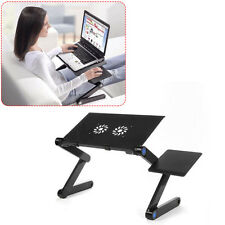 Laptop Table Stand Cooling Fan With USB Tablet Desk Tray Notebook Adjustable