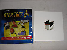 Star Trek Original Series 50th Ann. Kirk Captain's Chair Metal Pin-New