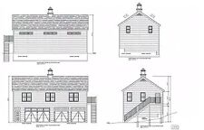 26'x48'  4 CAR GARAGE PLANS PRINTS BLUEPRINTS 4 CAR 48' X 26' PLAN #2912