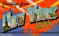 "5"" GREETINGS FROM NEW YORK CITY VINTAGE POSTCARD STYLE STICKER DECAL USA MADE"