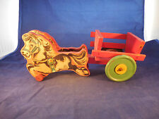 """N. N. HILL BRASS CO. 1940 HORSE AND CART TOY 14 1/2"""" LONG"""