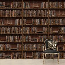 Flessibile Murale Parete Autoadesivo vintage libreria libreria arredamento stanza 264 x 290cm