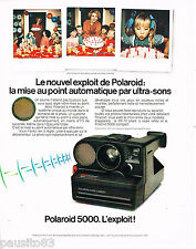PUBLICITE ADVERTISING 065  1979  POLAROID 5000 Appareil photo ultra-sons