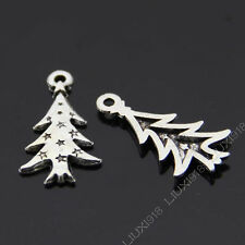 20pc Tibetan Silver Christmas tree Pendant Charms Beads Accessories B632P