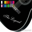 2 x PERSONALISED VINYL NAME GUITAR STICKERS ANY NAME TEXT FOR BASS ACOUSTIC