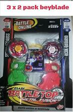 3 x 2 pack  BNIB Similar Beyblade Metal Fusionlauncher L-drago, flame