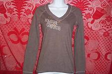 Hollister California Blouse Top Long Sleeve Casual V-Neck T-Shirt Womens Medium