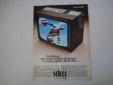 advertising Pubblicità 1976 TELEVISORE SELECO 22 POLLICI
