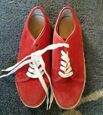 Rag & Bone Red Suede 'Baylor' Espadrille Sneakers/Shoes Sz. 38.5 worn once