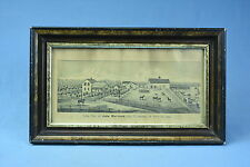 Antique ENGRAVING FARM RES JOHN MATTHIES SEC 17 LINCOLN TP POTT CO IOWA FRAMED