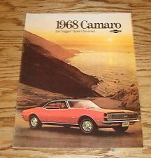 1968 Chevrolet Camaro Sales Brochure 68 Chevy