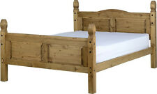Corona Solid Wood Mexican Pine 5FT King Size Bed Frame W/ High Foot End