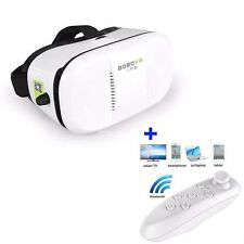 White Virtual Reality VR 3D Glasses Headset for iPhone SUMSUNG+Controller Remote