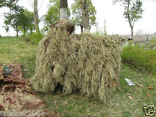 Cloak Type Desert Camouflage Ghillie Suit Poncho for Hunting Sniper Birdwatching