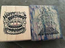Rubber Stamp PSX Medievel Fairy Tale Castle E205 Happy Birthday D 1770 Lot 2