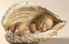 Sleeping Baby Infant Angel Wings Statue