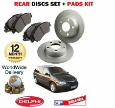 FOR CHRYSLER GRAND VOYAGER  2.8 2004-2007 NEW REAR BRAKE DISCS + DISC PADS SET