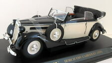 Ricko 1/18 Scale Diecast - 32152 Horch 930V Cabriolet 1939 black / cream