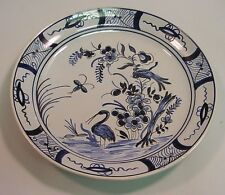 """Antique French Faience Blue & White Plate 9.5"""""""