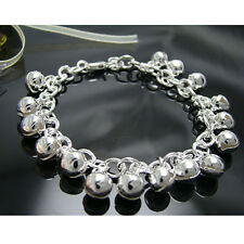 Wholesale 925Sterling Silver Jewelry Lovely Ball Bell Baby Women Bracelet HY056