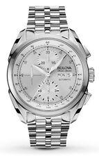 Bulova Accu Swiss 63C120 Automatic Silver-Tone Sapphire Crystal Watch
