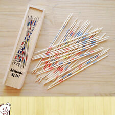 Baby Educational Wooden Traditional Mikado Spiel Pick Up Sticks With Box Game ZJ